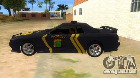 Elegy NR32 Police Edition Grey Patrol for GTA San Andreas left view