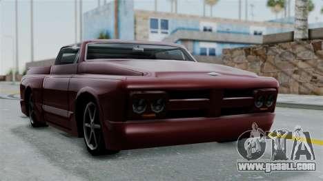 Slamvan Milt-Lorry for GTA San Andreas back left view