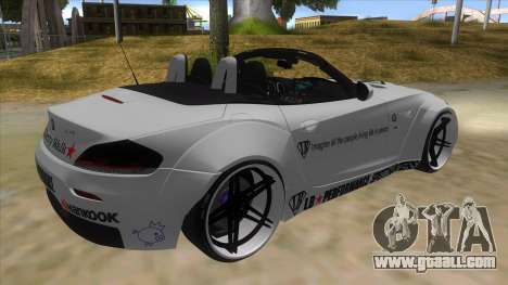BMW Z4 Liberty Walk Performance Livery for GTA San Andreas right view
