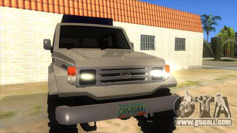 Toyota Machito 4X4 for GTA San Andreas back view