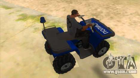ATV Polaris Police for GTA San Andreas right view