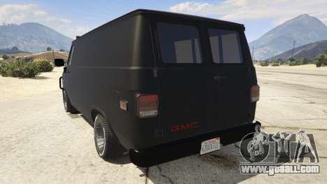 GTA 5 GMC Vandura (A-Team Van) rear left side view