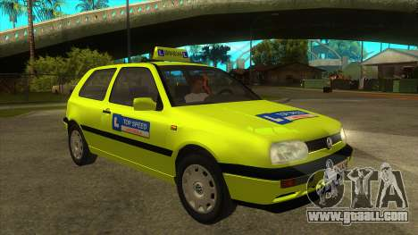 VW Golf Mk3 Top Speed Auto Skola for GTA San Andreas back view