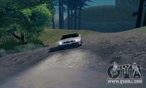 BMW M5 E34 for GTA San Andreas upper view