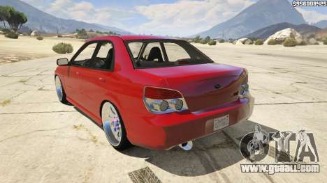 GTA 5 2006 Subaru Impreza WRX STI JDM rear left side view