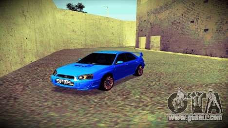 Subaru Impreza WRX STi Civil for GTA San Andreas inner view