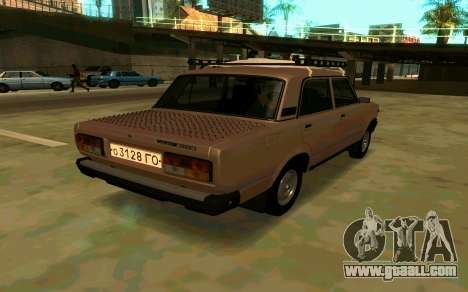 VAZ 2107 Winter for GTA San Andreas left view
