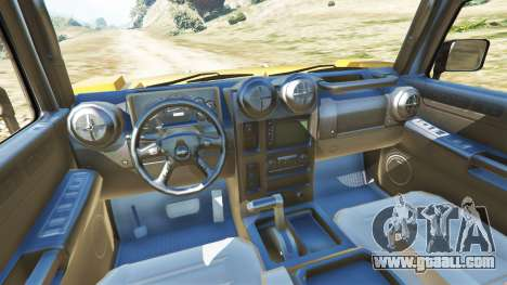 GTA 5 Hummer H2 6x6 v2.0 rear right side view