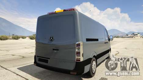 GTA 5 Mercedes-Benz Sprinter Worker Van rear left side view