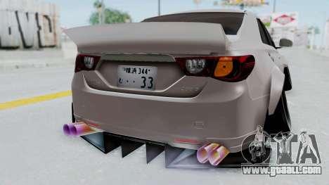 Toyota Mark X Slammed for GTA San Andreas back view