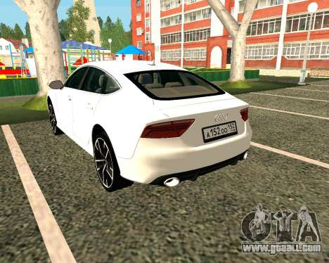 Audi RS7 Quattro for GTA San Andreas back left view