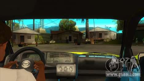 VW Golf Mk3 Top Speed Auto Skola for GTA San Andreas inner view