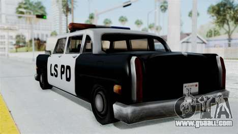 Police Cabbie for GTA San Andreas left view