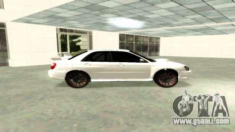 Subaru Impreza WRX STi Civil for GTA San Andreas left view
