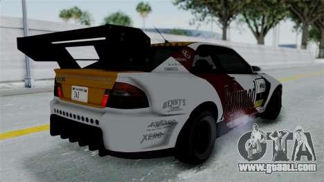 GTA 5 Karin Sultan RS Drift Big Spoiler PJ for GTA San Andreas bottom view