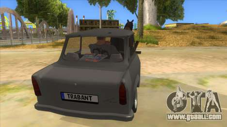 Trabant with Horse for GTA San Andreas inner view