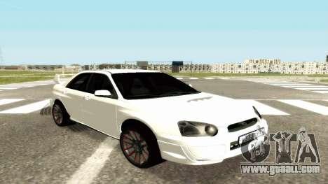 Subaru Impreza WRX STi Civil for GTA San Andreas