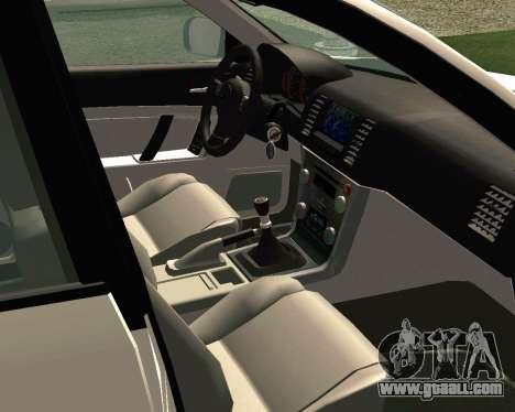 Subaru Legacy for GTA San Andreas inner view
