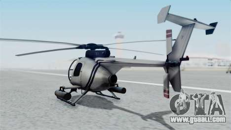 Makarovs Private MD-500 for GTA San Andreas left view