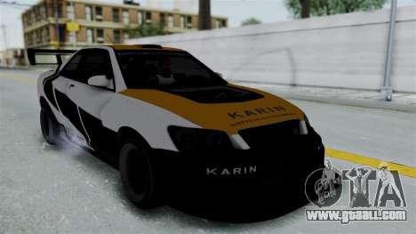 GTA 5 Karin Sultan RS Drift Big Spoiler PJ for GTA San Andreas inner view