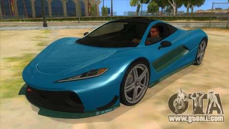 GTA 5 Progen T20 Styled version for GTA San Andreas inner view