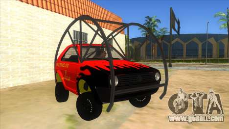 Volkswagen Golf MK2 RollGolf for GTA San Andreas back view