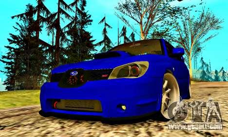 Subaru Impreza WRX STI Lisa for GTA San Andreas upper view