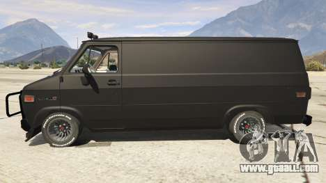 GTA 5 GMC Vandura (A-Team Van) left side view
