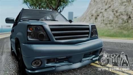 GTA 5 Albany Cavalcade v1 IVF for GTA San Andreas back view