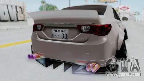 Toyota Mark X Slammed for GTA San Andreas right view