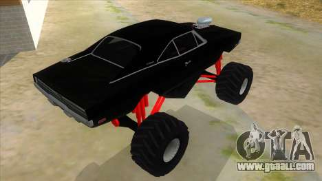 1969 Dodge Charger Monster Truck for GTA San Andreas right view