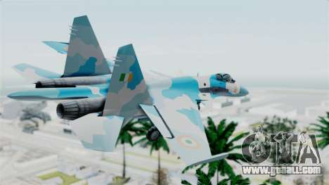 SU-37 Indian Air Force for GTA San Andreas left view