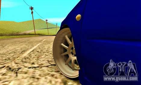 Subaru Impreza WRX STI Lisa for GTA San Andreas side view