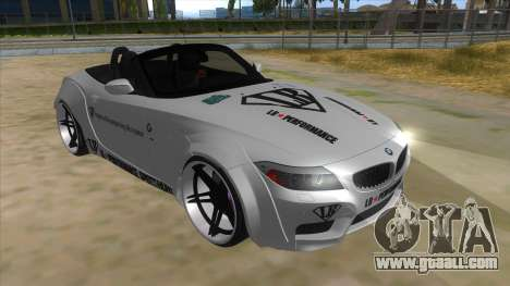 BMW Z4 Liberty Walk Performance Livery for GTA San Andreas back view