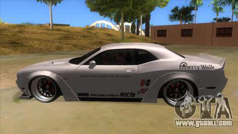 2012 DODGE CHALLENGER SRT8 Liberty Walk for GTA San Andreas left view