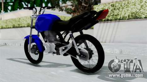 Honda CG Titan 2014 Stunt for GTA San Andreas left view
