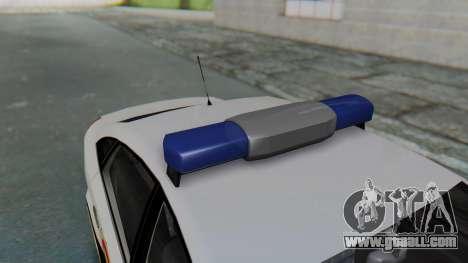Opel Vectra 2005 Policia for GTA San Andreas back view