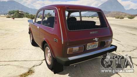 GTA 5 VAZ-2121 Lada Niva rear left side view