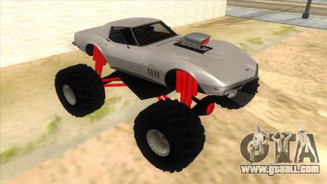 1968 Chevrolet Corvette Stingray Monster Truck for GTA San Andreas back view