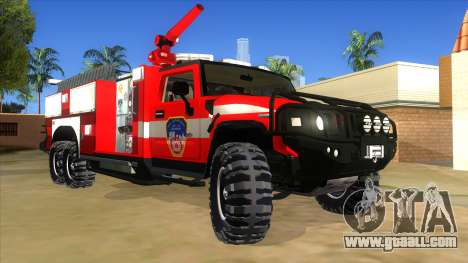 HUMMER H2 Firetruck for GTA San Andreas back view