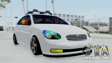 Hyundai Accent Essential Garage for GTA San Andreas