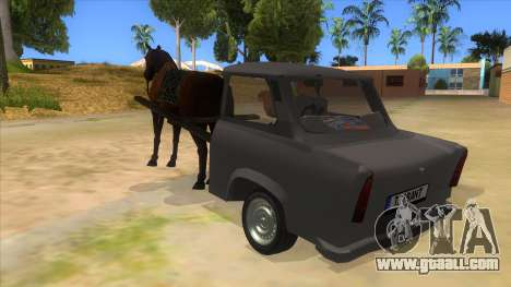 Trabant with Horse for GTA San Andreas back left view