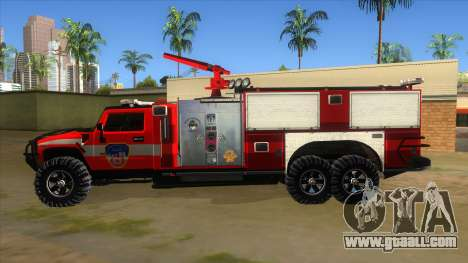HUMMER H2 Firetruck for GTA San Andreas left view