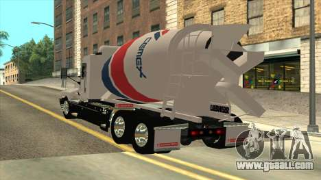 T600 Kenworth Cement Truck for GTA San Andreas left view