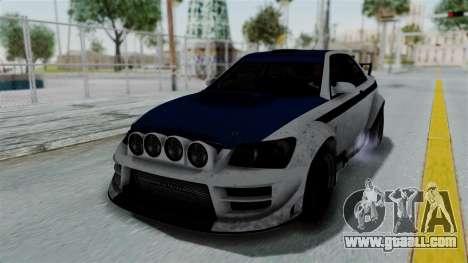 GTA 5 Karin Sultan RS Rally PJ for GTA San Andreas upper view