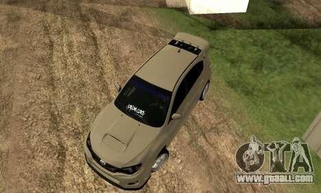 Subaru Impreza WRX STI 2008 LPcars v.1.0 for GTA San Andreas back view
