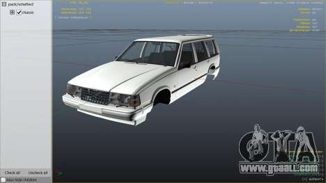 GTA 5 Volvo 945 right side view