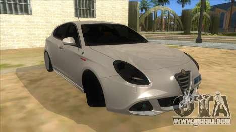 2011 Alfa Romeo Giulietta for GTA San Andreas back view