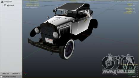 GTA 5 Ford T 1927 Roadster right side view