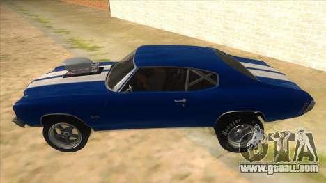1970 Chevrolet Chevelle SS Drag for GTA San Andreas left view